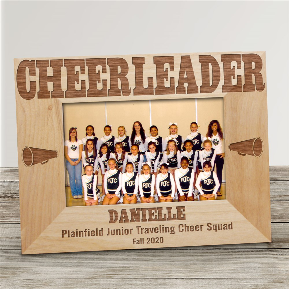 Cheerleading Wood Picture Frame | Personalized Wood Picture Frames