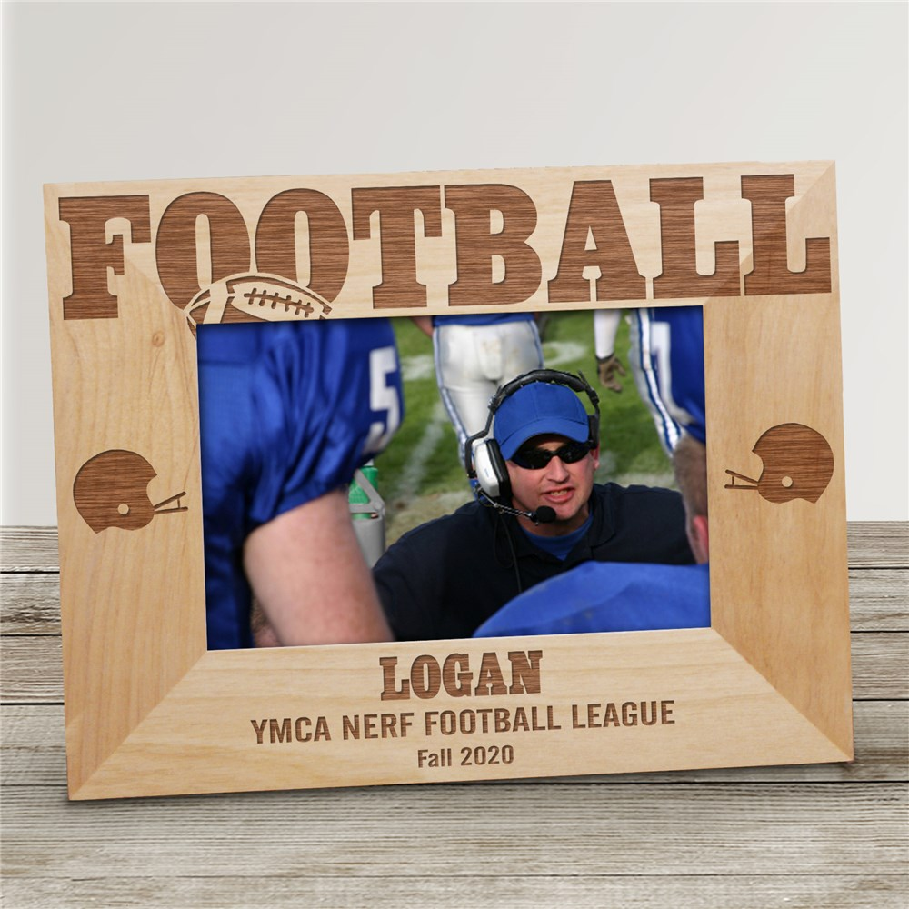 Football Wood Picture Frame | Personalized Wood Picture Frames