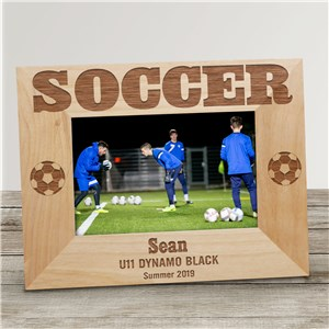 Soccer Wood Picture Frame | Personalized Wood Picture Frames