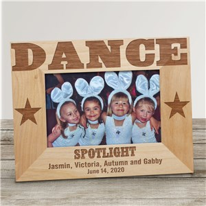 Dance Wood Picture Frame | Personalized Wood Picture Frames