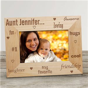 My Favorite Aunt | Personalized Wood Picture Frame