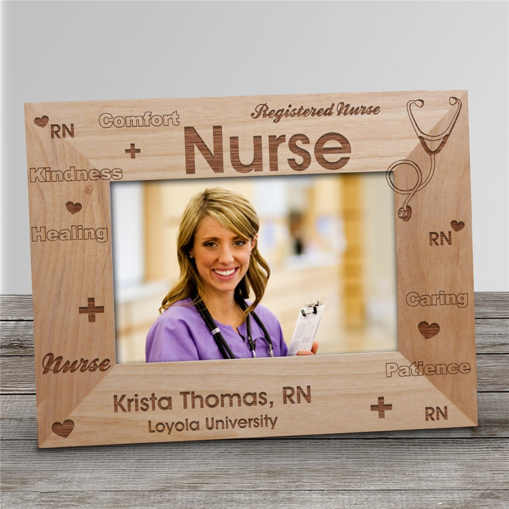 Registered Nurse Personalized Picture Frame | Personalized Wood Picture Frames