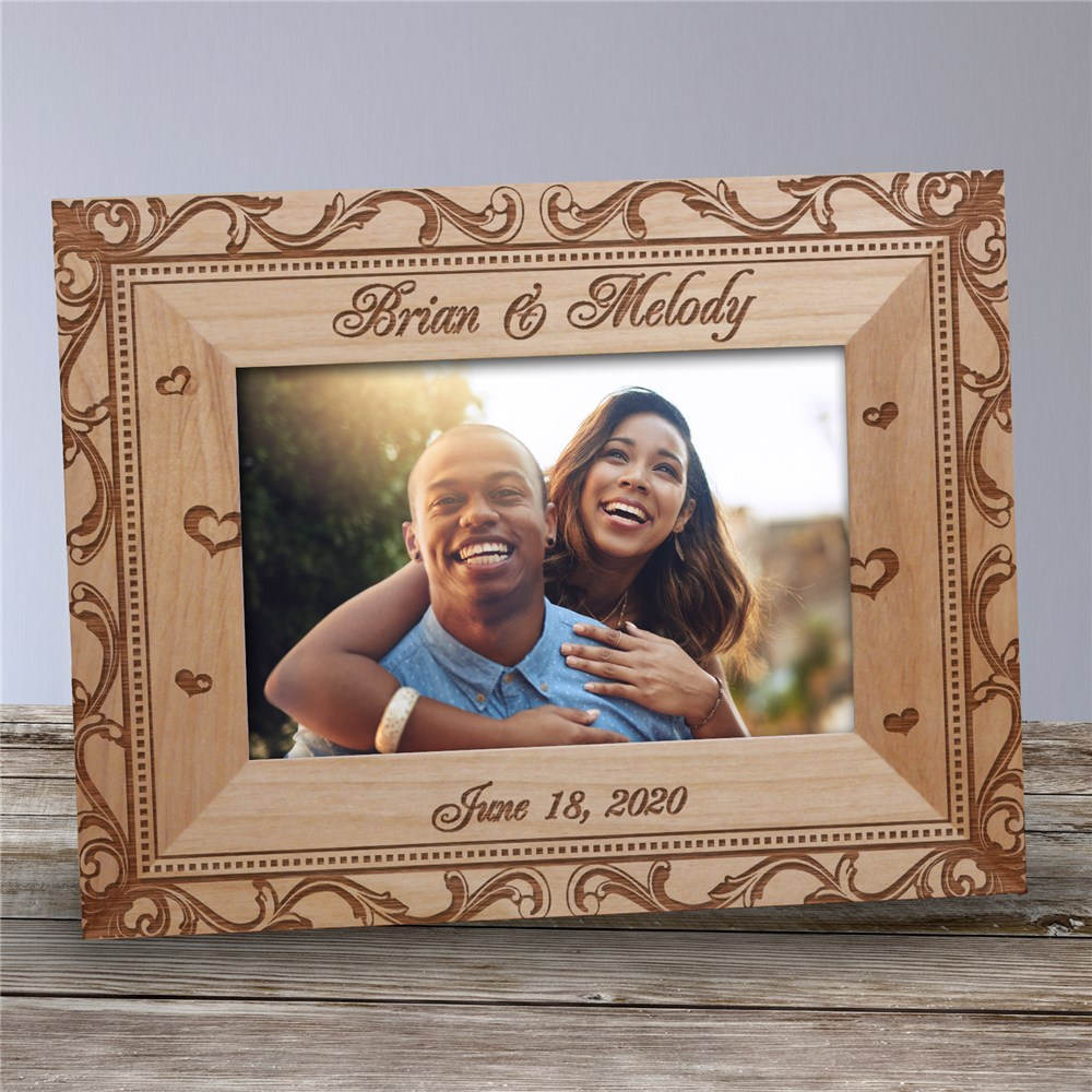 Personalized Wedding Couple Picture Frame | Personalized Wood Picture Frames