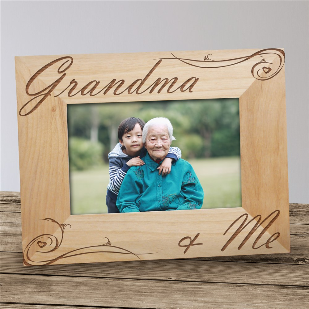 Personalized Grandma and Me Picture Frame | Personalized Gifts for Grandma