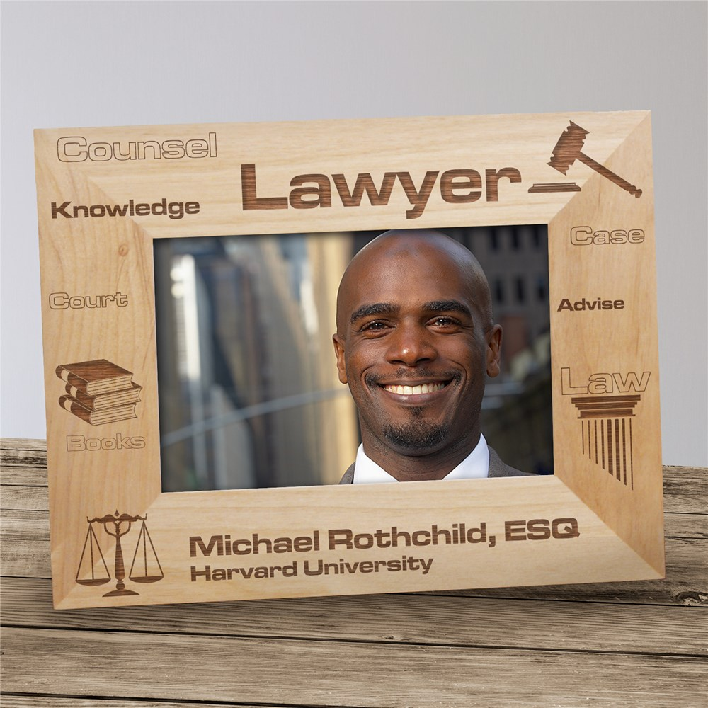 Personalized Lawyer Wood Picture Frame | Personalized Wood Picture Frames