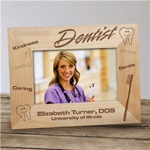 Personalized Dentist Wood Picture Frame | Graduation Frames