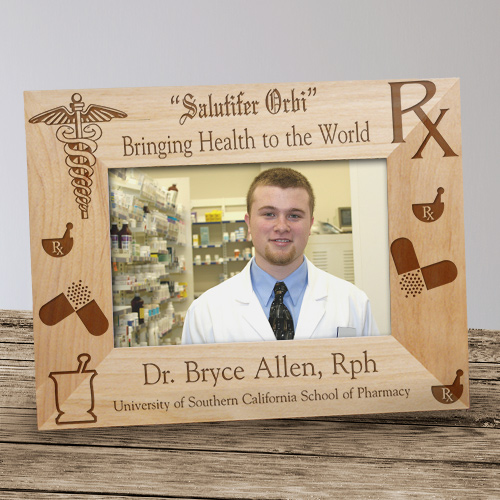 Personalized Pharmacist Wood Picture Frame | Graduation Frames
