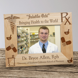 Personalized Pharmacist Wood Picture Frame