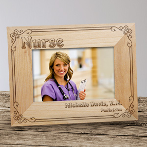 Personalized Nurse Wood Picture Frame | Graduation Picture Frames
