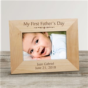 My First Fathers Day Wood Picture Frame | Dad Picture Frames