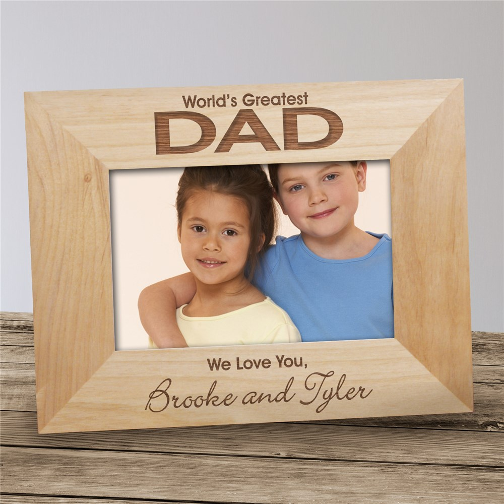 World's Greatest Stars Wood Picture Frame | Daddy Picture Frames