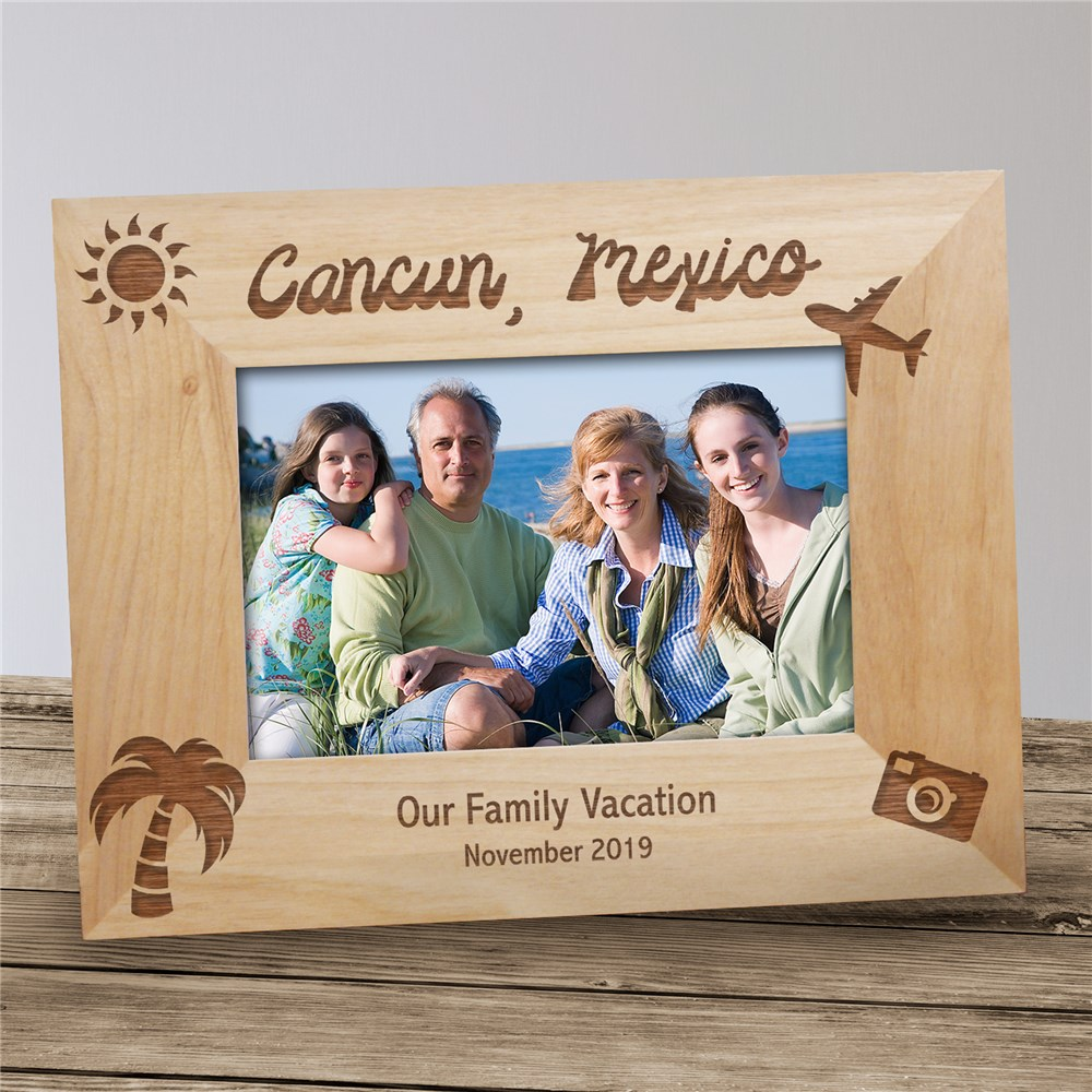 Our Vacation Picture Frame | Personalized Wood Picture Frames