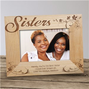 Engraved Picture Frame for Sisters | Personalized Sister Gifts