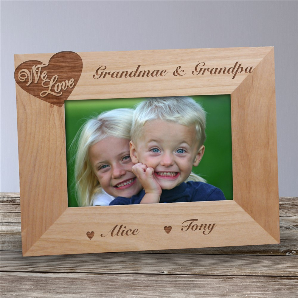 Engraved Love of Family Picture Frame | Personalized Gifts For Grandparents