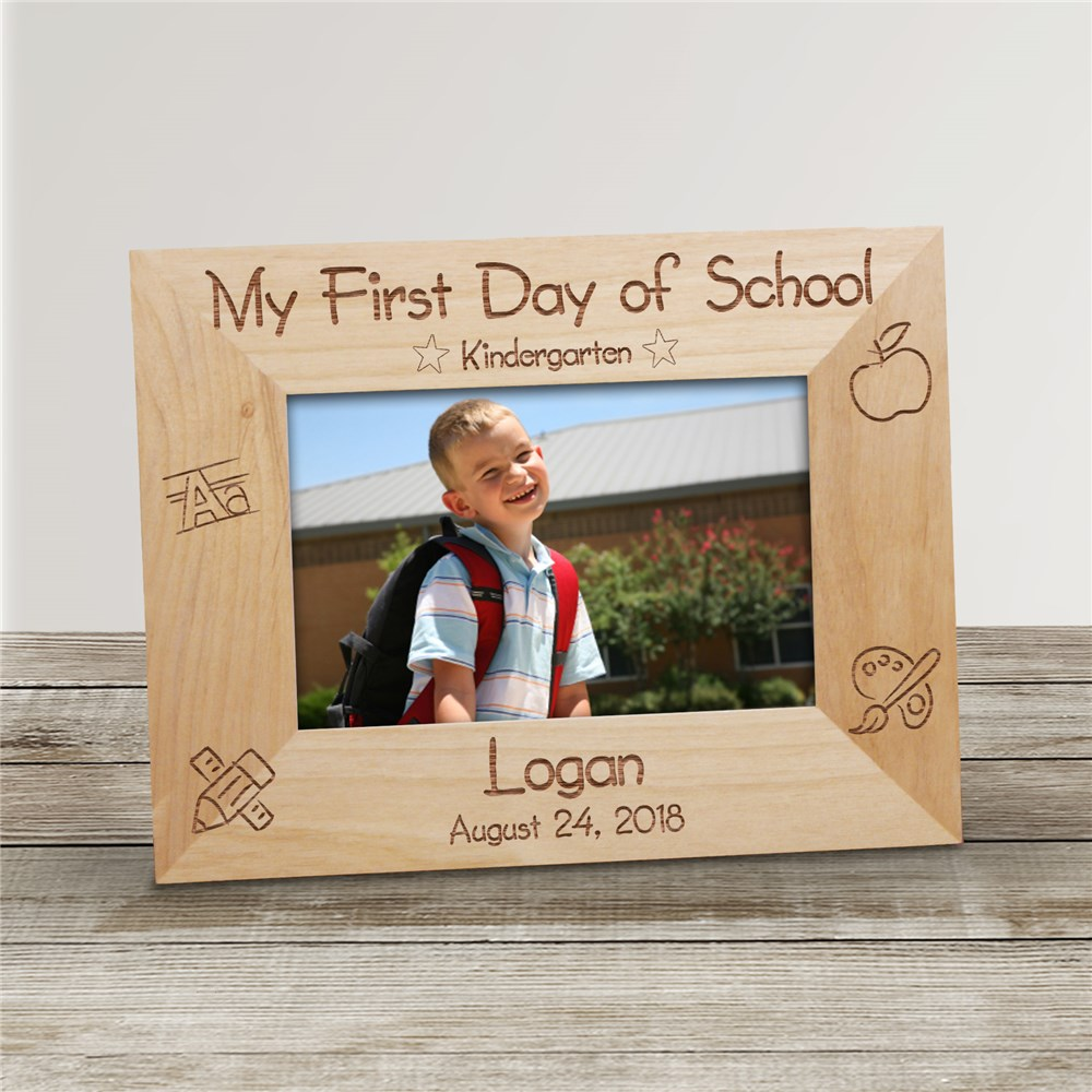 First Day of School Picture Frame | Personalized Wood Picture Frames