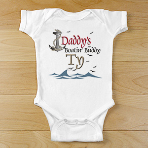 Boatin' Buddy Infant Apparel | Personalized Baby Outfit