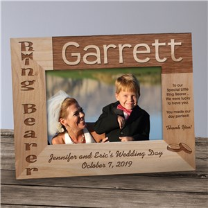 Ring Bearer Wood Picture Frame | Personalized Wood Picture Frames
