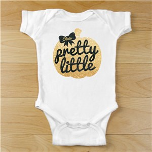 Personalized Pretty Little Pumpkin Infant Shirt or Onesie | Personalized Halloween Onesies