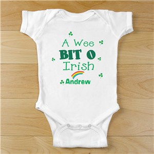 A Wee Bit O Irish Infant Outfit | St. Patrick's Day Baby Shirt