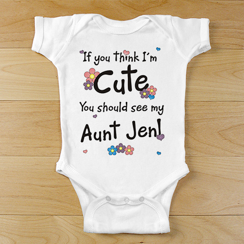 If You Think I Am Cute - Flower Infant Bodysuit | Personalized Baby Bodysuit