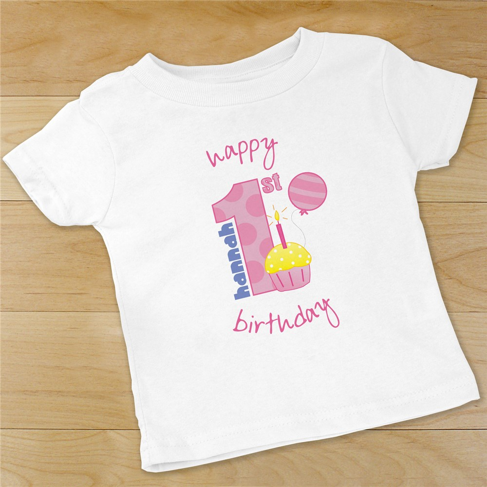 Baby Girl's 1st Birthday Infant Creeper | Personalized Baby Gifts