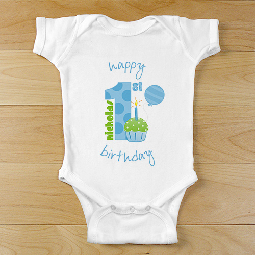 Baby Boy's 1st Birthday Infant Creeper