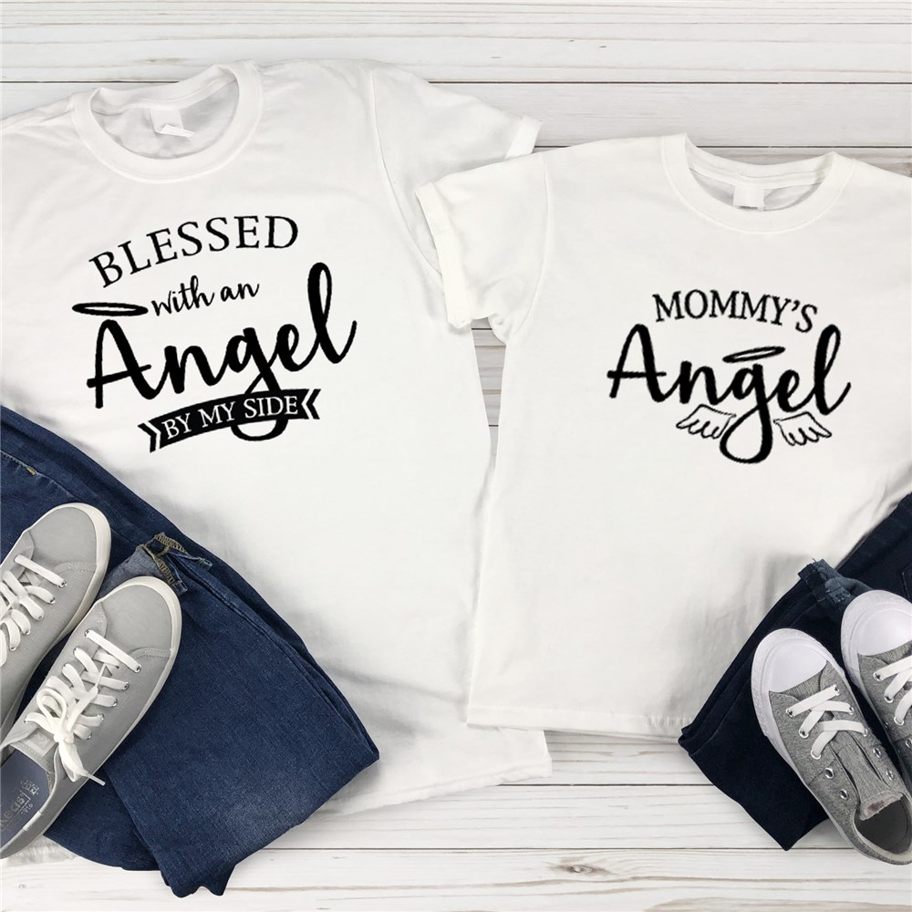 Mommy and Me Matching Shirts | Angel By My Side Shirt