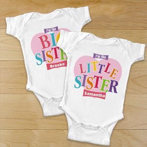Big Sister Heart Infant Onsie