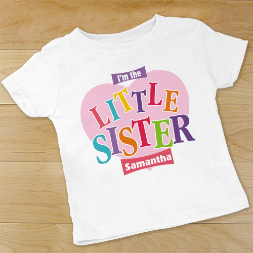 Personalized Little Sister Infant Apparel | Personalized Sister Baby Bodysuit