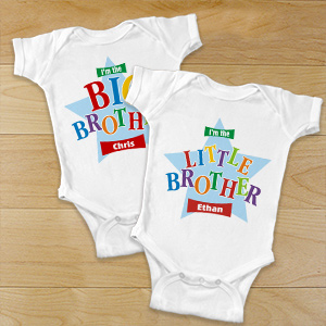 Big Brother Star Infant Onsie