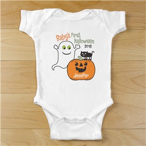 Personalized Baby's First Halloween Infant Bodysuit | Halloween Shirts For Kids