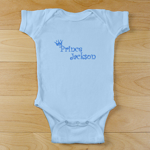 Prince Personalized Baby Bodysuit | Personalized Baby Gifts