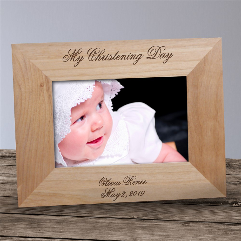Personalized My Christening Day Wood Picture Frame | Personalized Wooden Picture Frames