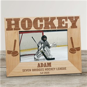 Hockey Wood Picture Frame | Personalized Wood Picture Frames