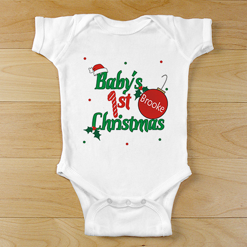 Baby's 1st Christmas Infant Onesie | GiftsForYouNow