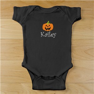 Pumpkin Infant Creeper | Personalized Halloween Onesies
