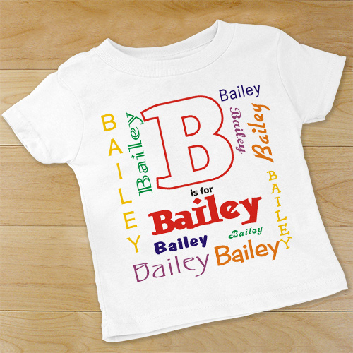 A is For Personalized Infant Shirt | Personalized Baby Gifts