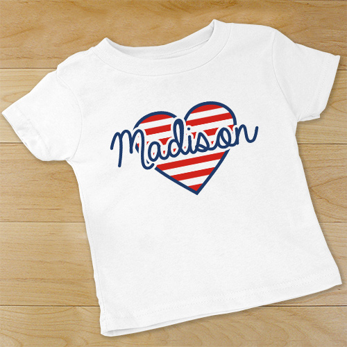 Patriotic Heart Infant Bodysuit | Customized Baby Gifts