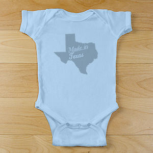 Made In Personalized Infant Bodysuit | Personalized Baby Onesies