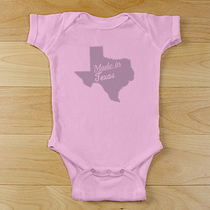 Made In State Personalized Infant Bodysuit | Unique Baby Gifts