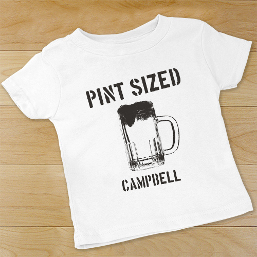 Personalized Pint Sized Infant Outfit | Personalized Baby Gift