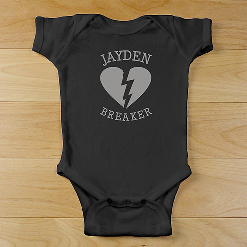 Heartbreaker Personalized Bodysuit | Personalized Baby Gifts For Valentine's Day