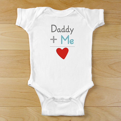 Plus Me Infant Personalized Bodysuit | Personalized Valentines Day Gifts For Kids