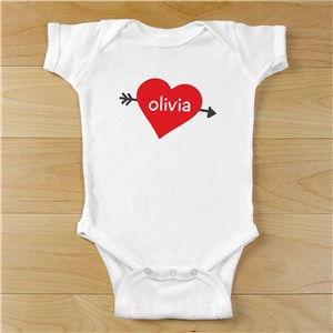 Cupid's Heart Personalized Baby Bodysuit | Valentine's Day Personalized Baby Onesie