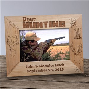 Deer Hunting Picture Frame | Personalized Hunting Gifts