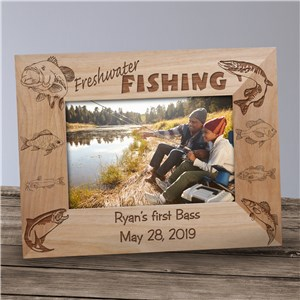 Fishing Photo Frame | Engraved Fishing Frame
