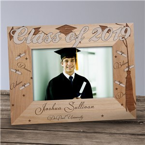 Engraved Graduation Wood Picture Frame | Personalized Wood Picture Frames