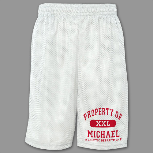 Property of Athletic Personalized Mesh Boxer Shorts
