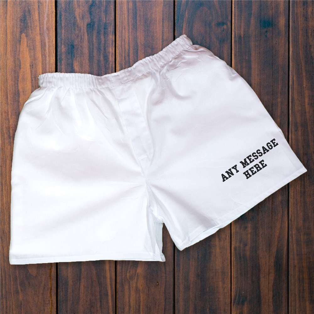 Personalized Any Message Here Boxers | Personalized Boxer Shorts