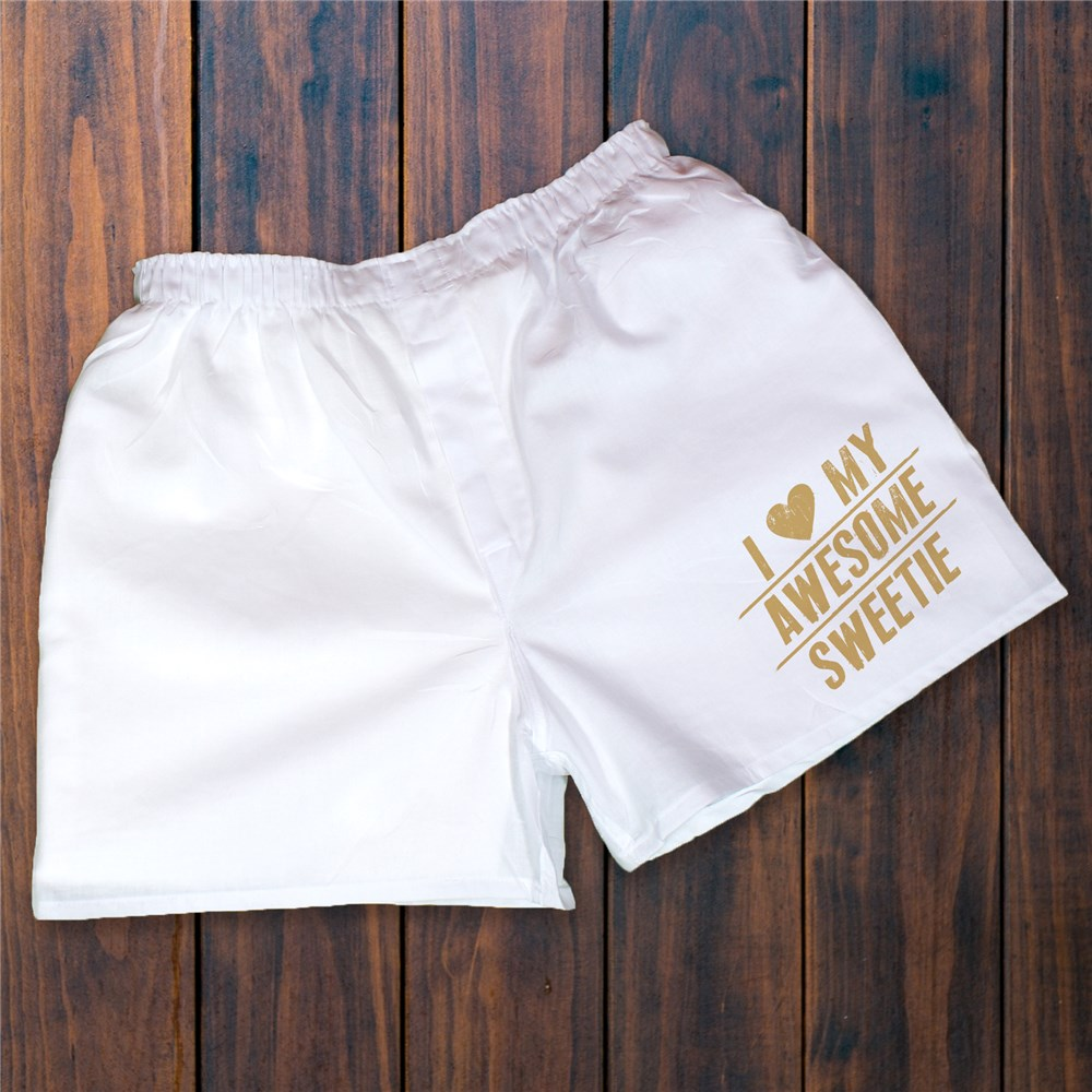 Romantic Personalized Boxer Shorts | Valentine Gift for Him